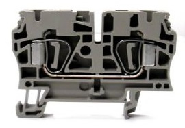 Weidmuller Z-Series feed through terminal block with stainless steel tension clamp technology
